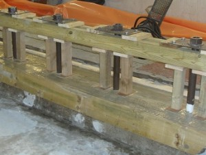 Machine base plate grouting