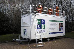 Confined space mobile rig