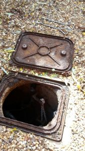 Wet well prior to refurbishment