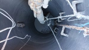 Wet well during coating application