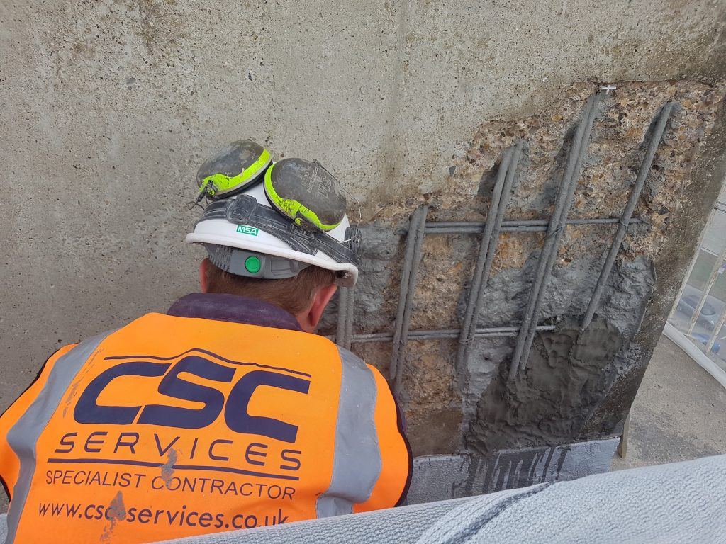 CSC concrete repair specialists at work